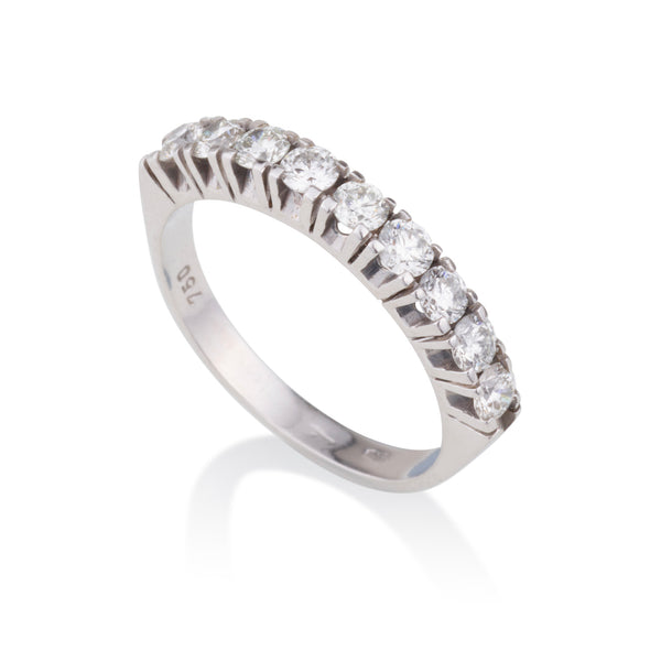 Gorgeous half diamonds eternity ring