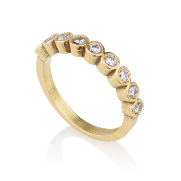 Modern style Half eternity diamonds ring
