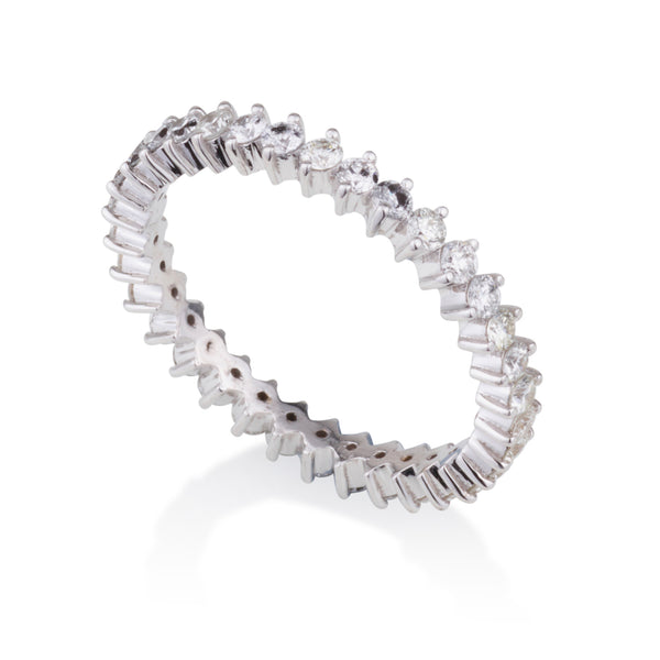 Diana style diamonds eternity band