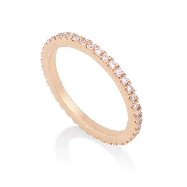 Modern style diamonds eternity band