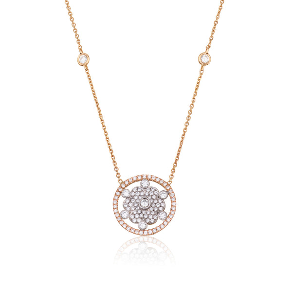 Blossom Delicate diamonds necklace with a dazzling flower pendant