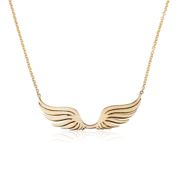 Wings of love gold necklace