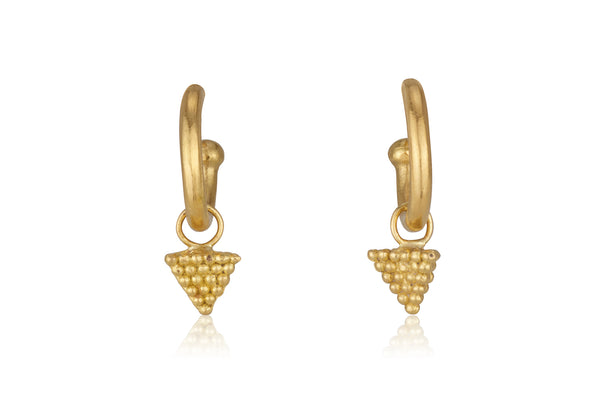 Detachable dangling Pyramids hug earrings