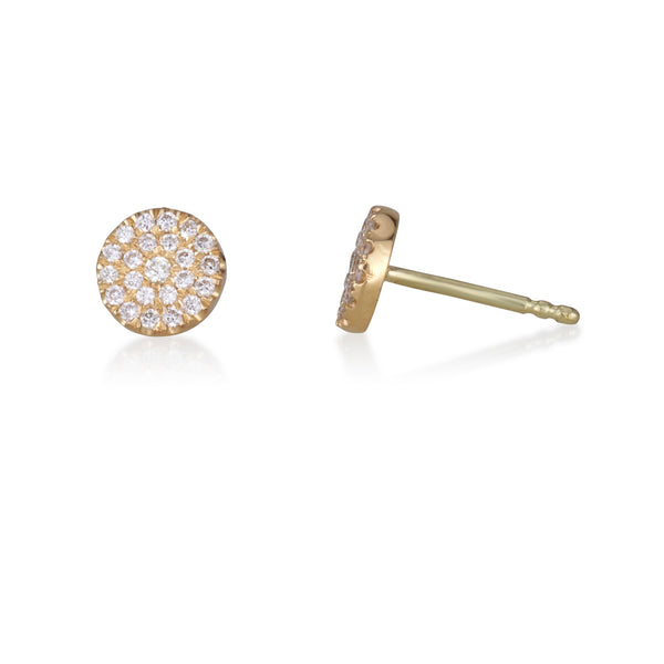 imperial small diamond halo stud earrings