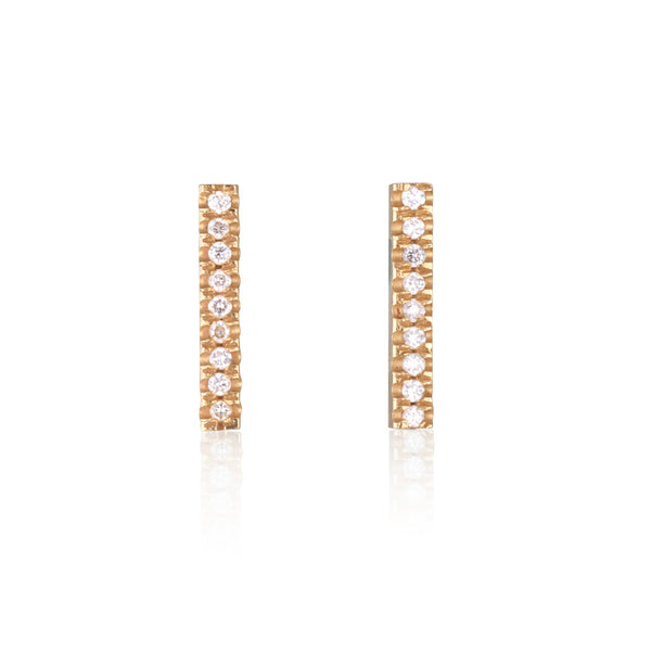 Diamond bar small stud earring