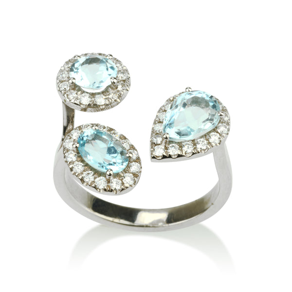 Royal  three stone open ring
