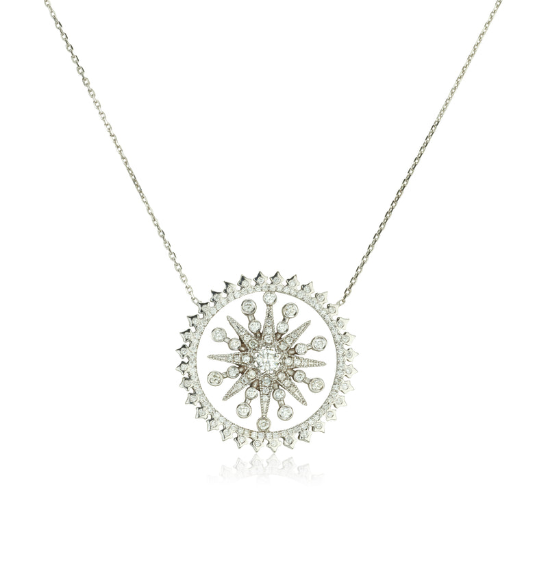 Stunning diamond star necklace