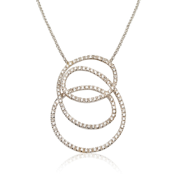 Eternity diamond pave necklace