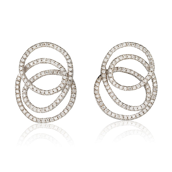 Eternity diamond pave earrings