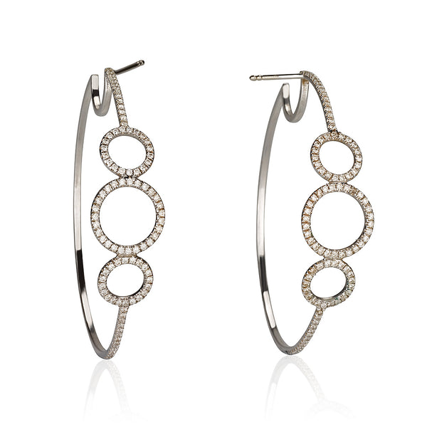Bubbles hoops earrings