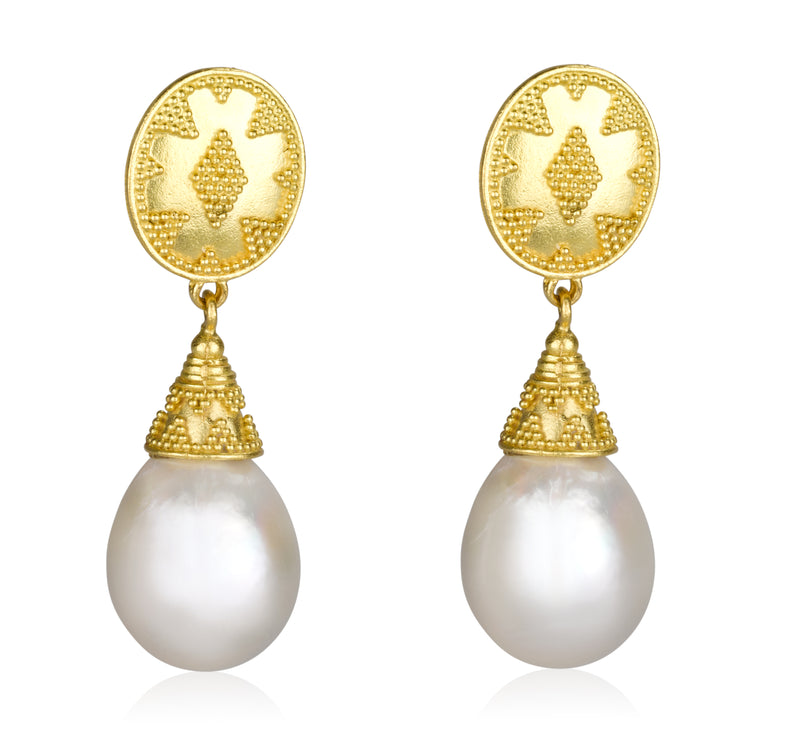 ALEXANDRIA pearl earrings