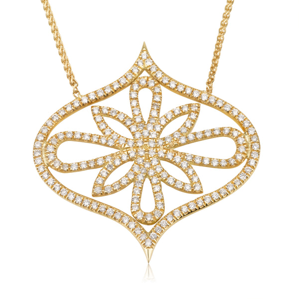 Copy of Arabesque diamond pave necklace white gold