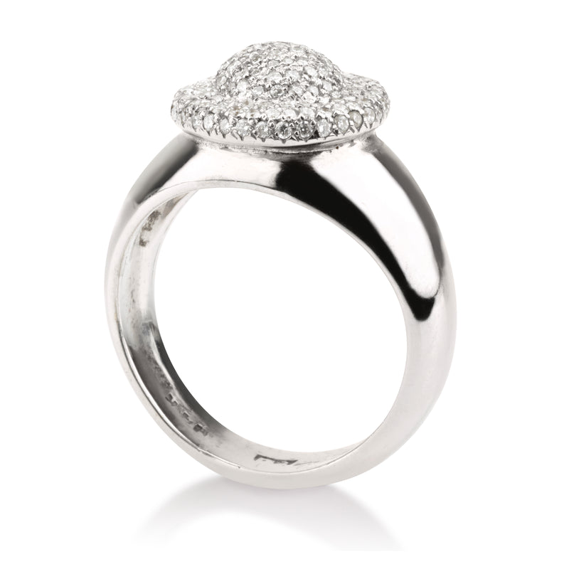 Imperial cocktail diamond pave statement ring