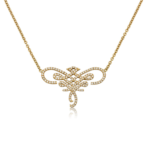 Prague infinity romantic diamonds pave necklace