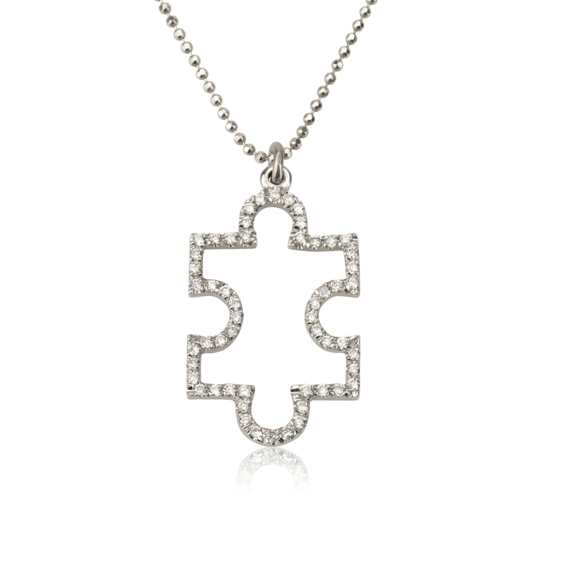 A diamond puzzle necklace