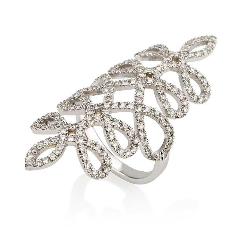 Infinity love elongated ring