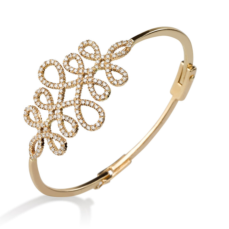 Infinity love bangle with diamonds