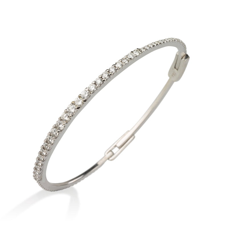 Prestigious  solid gold and diamond bangle