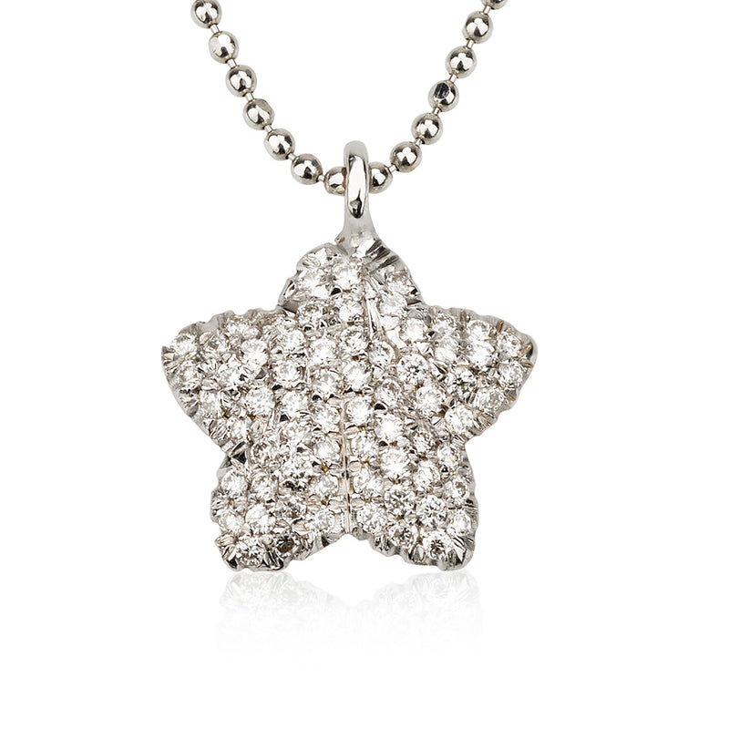 Ocean Starfish diamond pave necklace