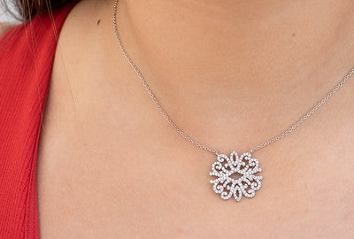 Medusa love diamond pave necklace
