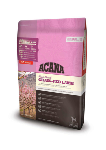 ACANA SINGLES GRASS-FED LAMB DOG DRY FOOD (2.0KG/6.0KG/11.4KG)