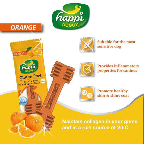 Happi Doggy Orange Dental Chew