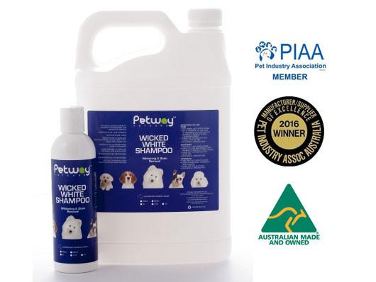 Petway Petcare Wicked White Whitening & Stain Removal Shampoo (250ml/5000ml)
