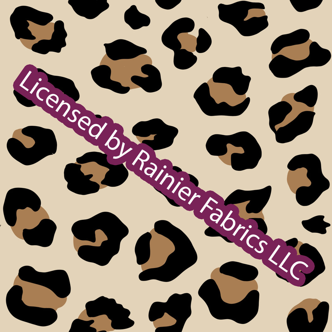 Natural Leopard - with solids - Order by half yard - See below for instructions on ordering and base fabrics