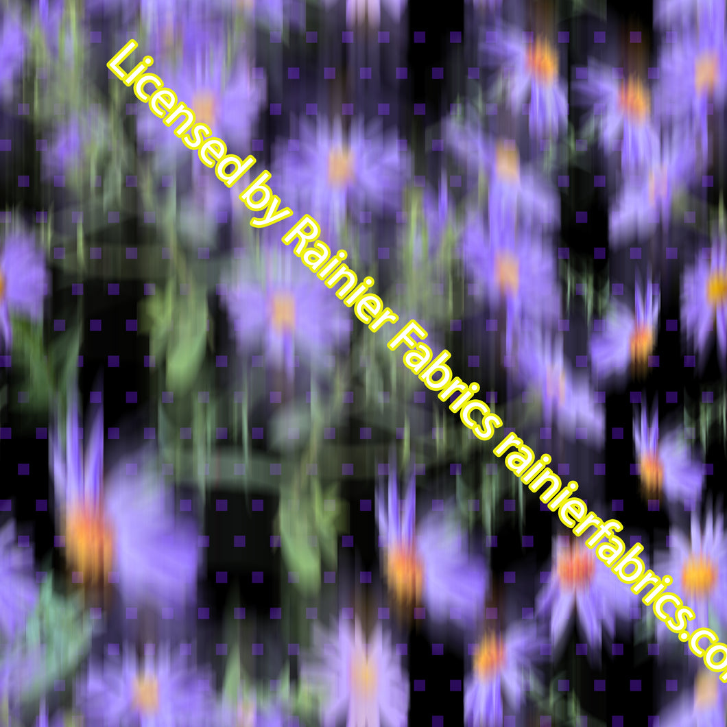 Blurred Asters (flowers) - Order by half yard - See below for instructions on ordering and base fabrics