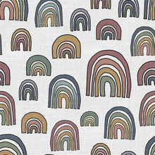 Load image into Gallery viewer, Burlap Rainbows by Popologie - Order by Half Yard - See below for instructions on ordering and base fabrics