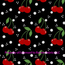 Load image into Gallery viewer, Cherries with solids from Nina with solids - Order by half yard - See below for instructions on ordering and base fabrics