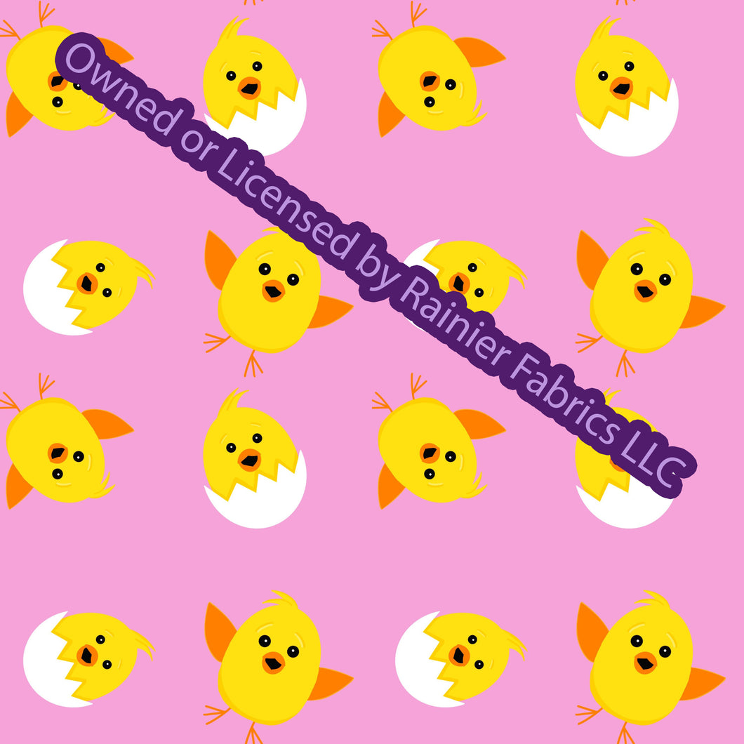 Easter Chicks with options from Nina - Order by half yard - See below for instructions on ordering and base fabrics