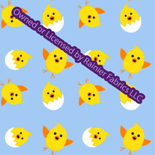 Load image into Gallery viewer, Easter Chicks with options from Nina - Order by half yard - See below for instructions on ordering and base fabrics