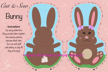 Load image into Gallery viewer, Copy of Easter Stuffies - Bunnies and Sheep - Use this link when only ordering stuffies with your fabric