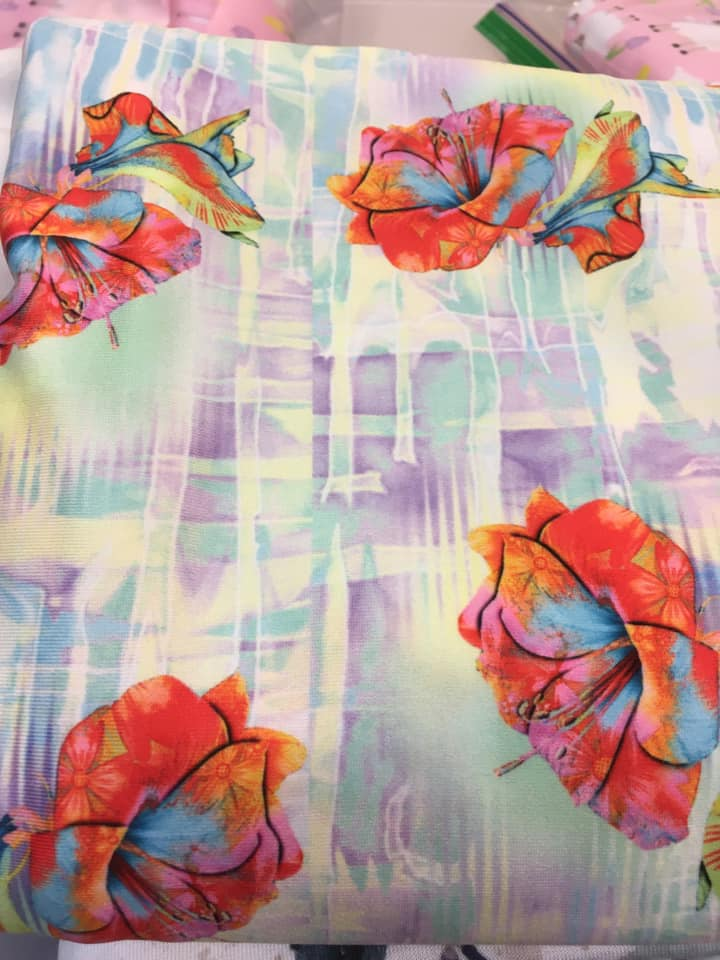 Beautiful Floral Pattern with Drippy Background - Rainier Fabrics EXCLUSIVE! - Order by half yard -instructions below on base fabrics