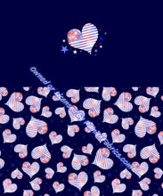 Load image into Gallery viewer, Yankee Doodle Hearts with Panel from Sarah - 2-5 day turnaround - Order by 1/2 yard; Description of bases below