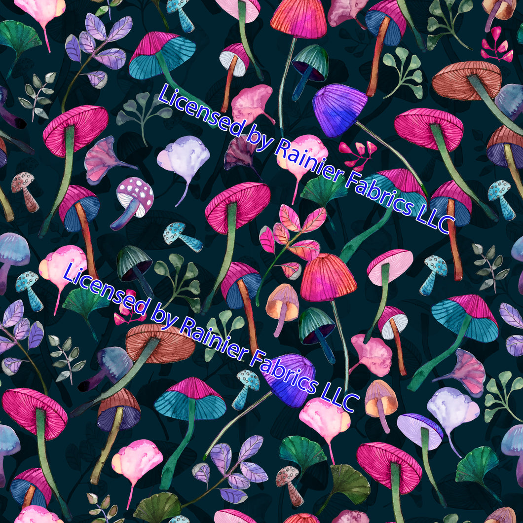 Magic Mushrooms - Order by half yard - See below for instructions on ordering and base fabrics