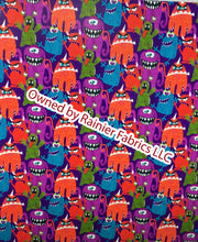 Load image into Gallery viewer, Monster Mash and solids - Rainier Fabrics exclusive!   - Order by half yard - See below for instructions on ordering and base fabrics