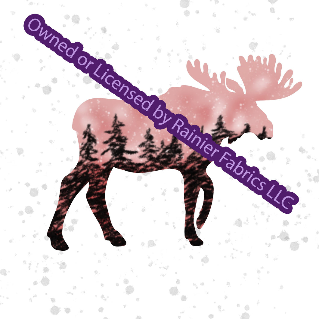 Copy of Aurora Moose Collection in Pink with options and panel - by Nina with options  - Order by half yard - See below for instructions on ordering and base fabrics