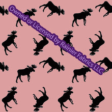 Load image into Gallery viewer, Copy of Aurora Moose Collection in Pink with options and panel - by Nina with options  - Order by half yard - See below for instructions on ordering and base fabrics