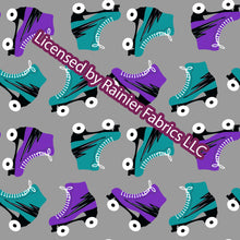 Load image into Gallery viewer, Roller Derby Queen / Skates with options from Nina with solids - Order by half yard - See below for instructions on ordering and base fabrics