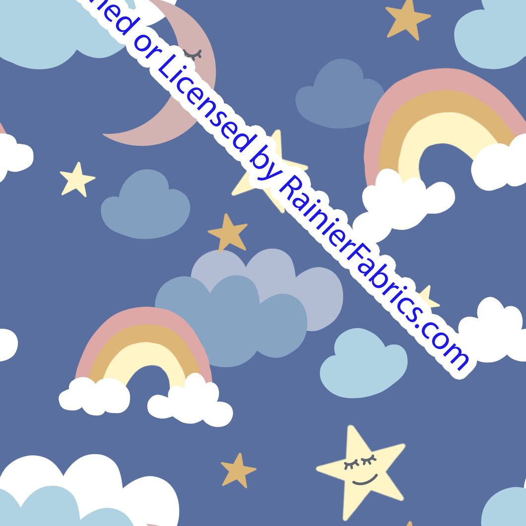 Good Night Sky by Nina - Order by half yard -instructions below on base fabrics