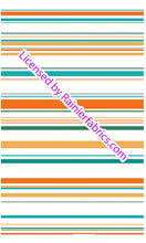 Load image into Gallery viewer, Sarah's Aqua Tangerine Stripe Collection - Order by half yard -instructions below on base fabrics