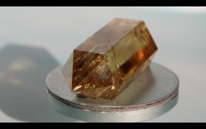 Double Terminated Citrine 40.6g 66mm x 25.4mm