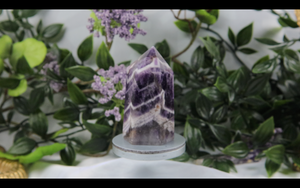 Chevron Amethyst Tower 93.6g 63.5mm x 35.5mm