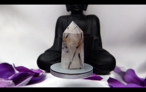 Tourmalated Quartz Tower 49g 53mm x 27.9mm