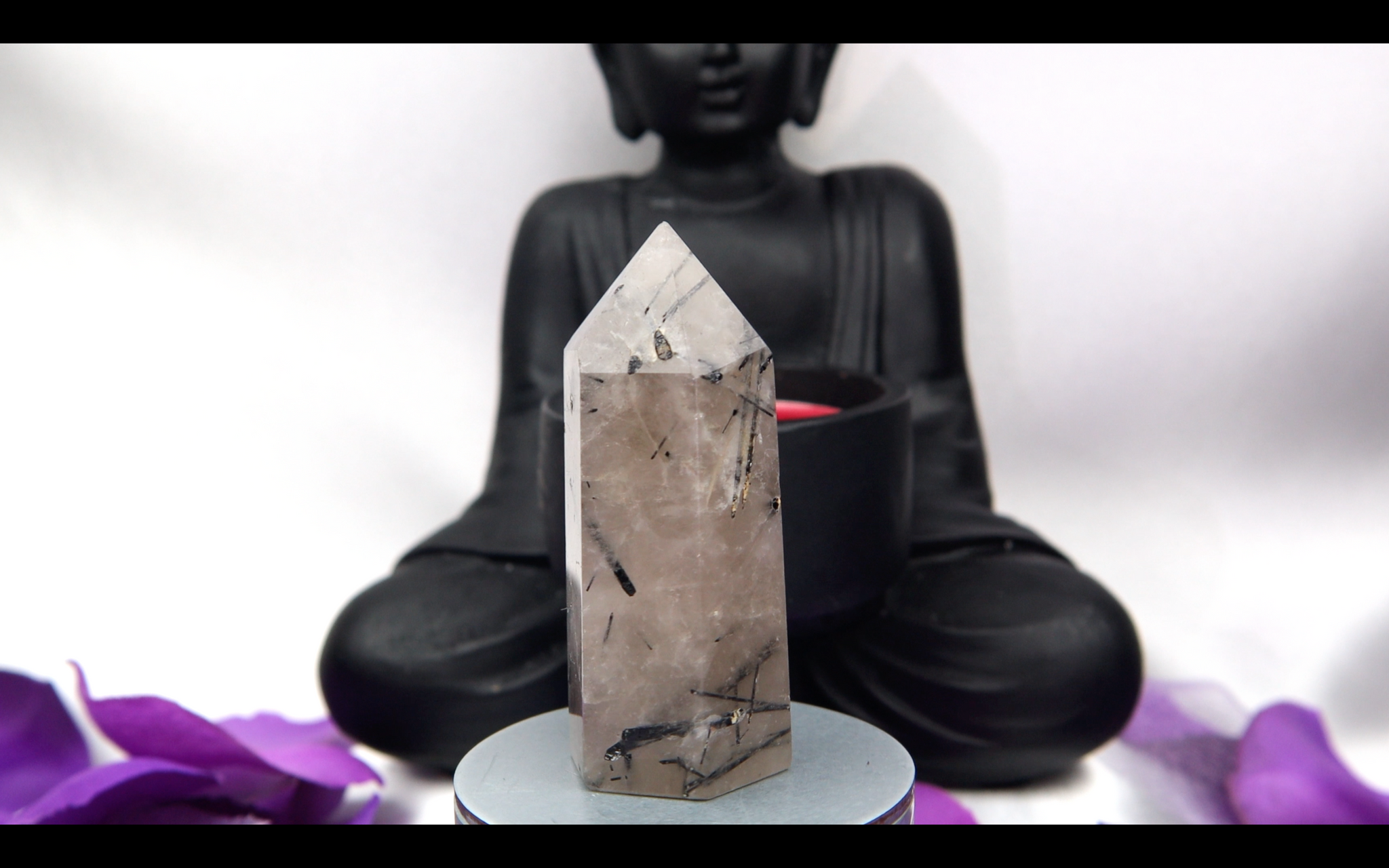 Tourmalated Quartz Tower 49.3 58.2mm x 25.4mm