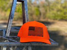 Load image into Gallery viewer, American Flag Blaze Orange Snapback