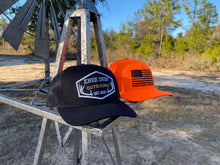 Load image into Gallery viewer, Blackout Knee Deep Patch Snapback- Orange