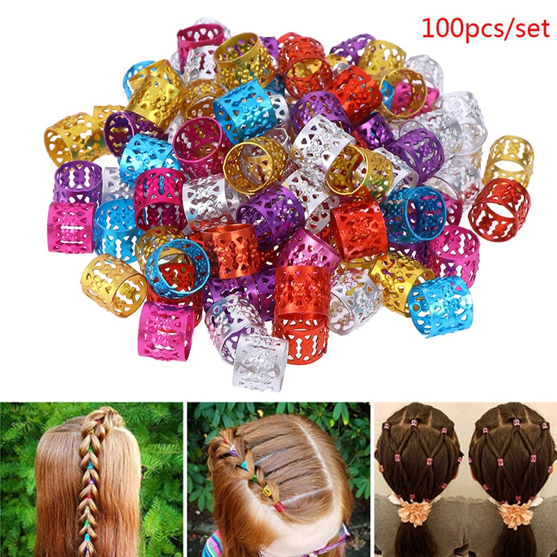 100Pcs Hair Cuffs